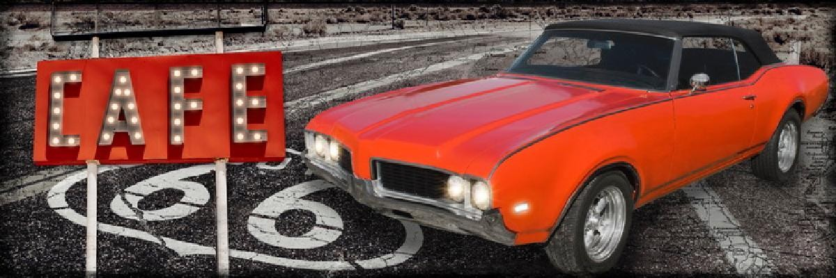 TOILE IMP.LEDS CAR RED DROITE 30X90 -