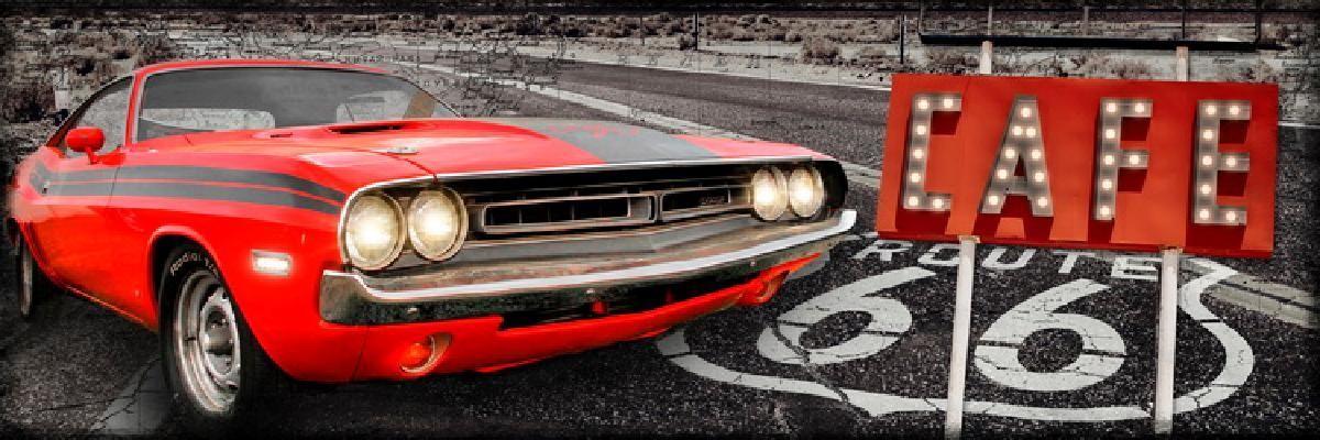 TOILE IMP.LEDS CAR RED GAUCHE 30X90 -