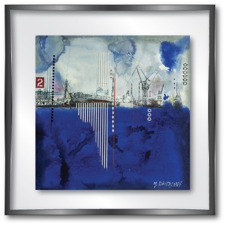 vitrine md dock blue -
