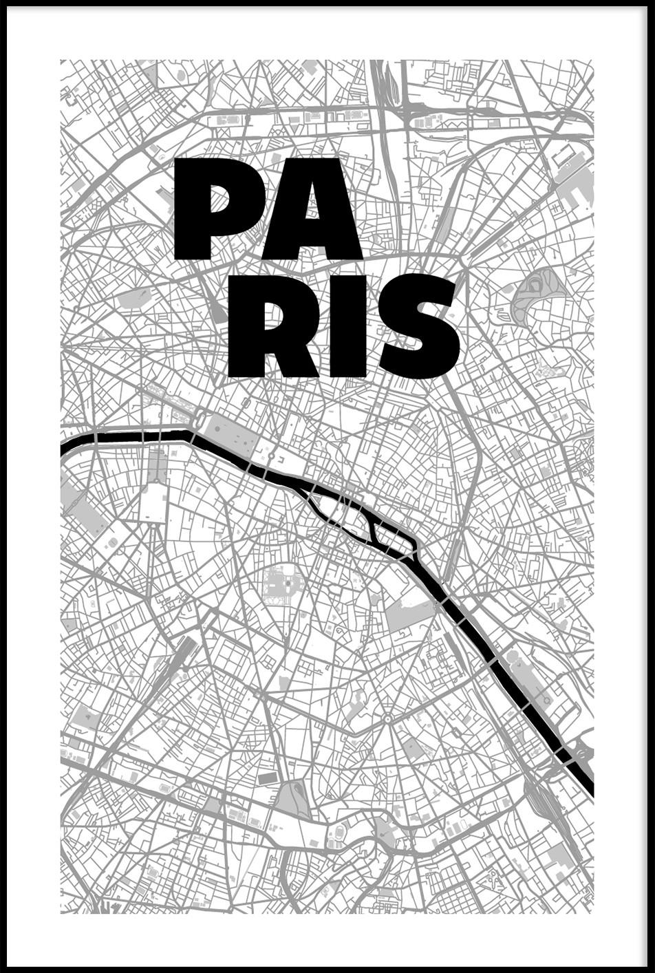 carte paris map -