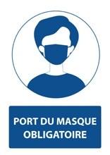 Panneau Signalétique Port du Masque obligatoire 21X29,7 -
