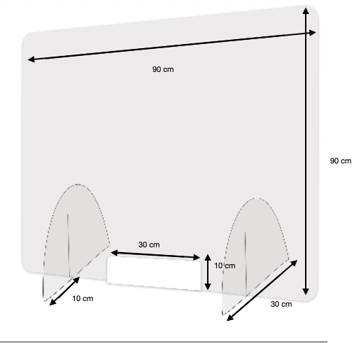 Panneau de protection plexiglass grand format -
