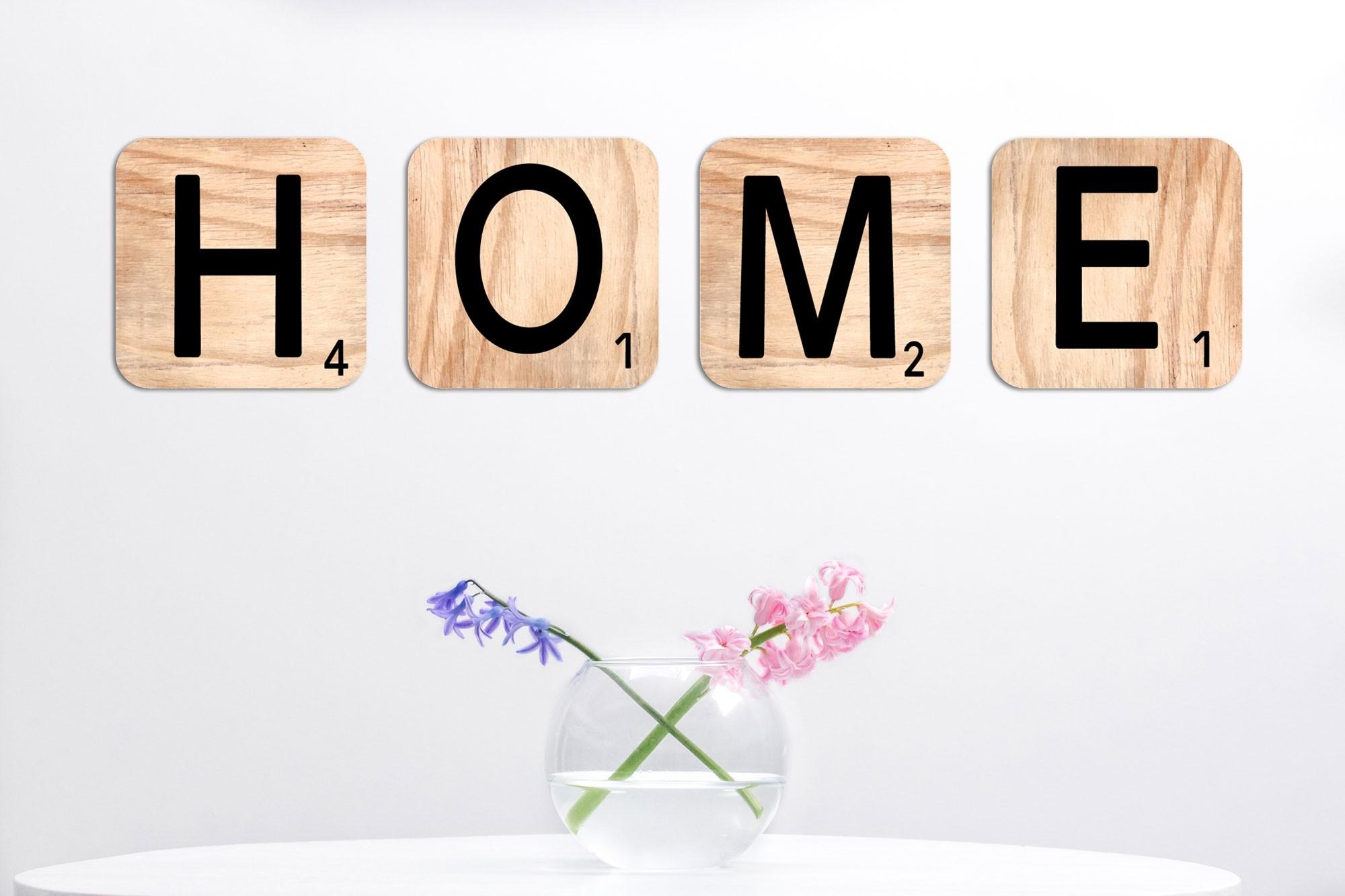 Lettre Scarbble home -