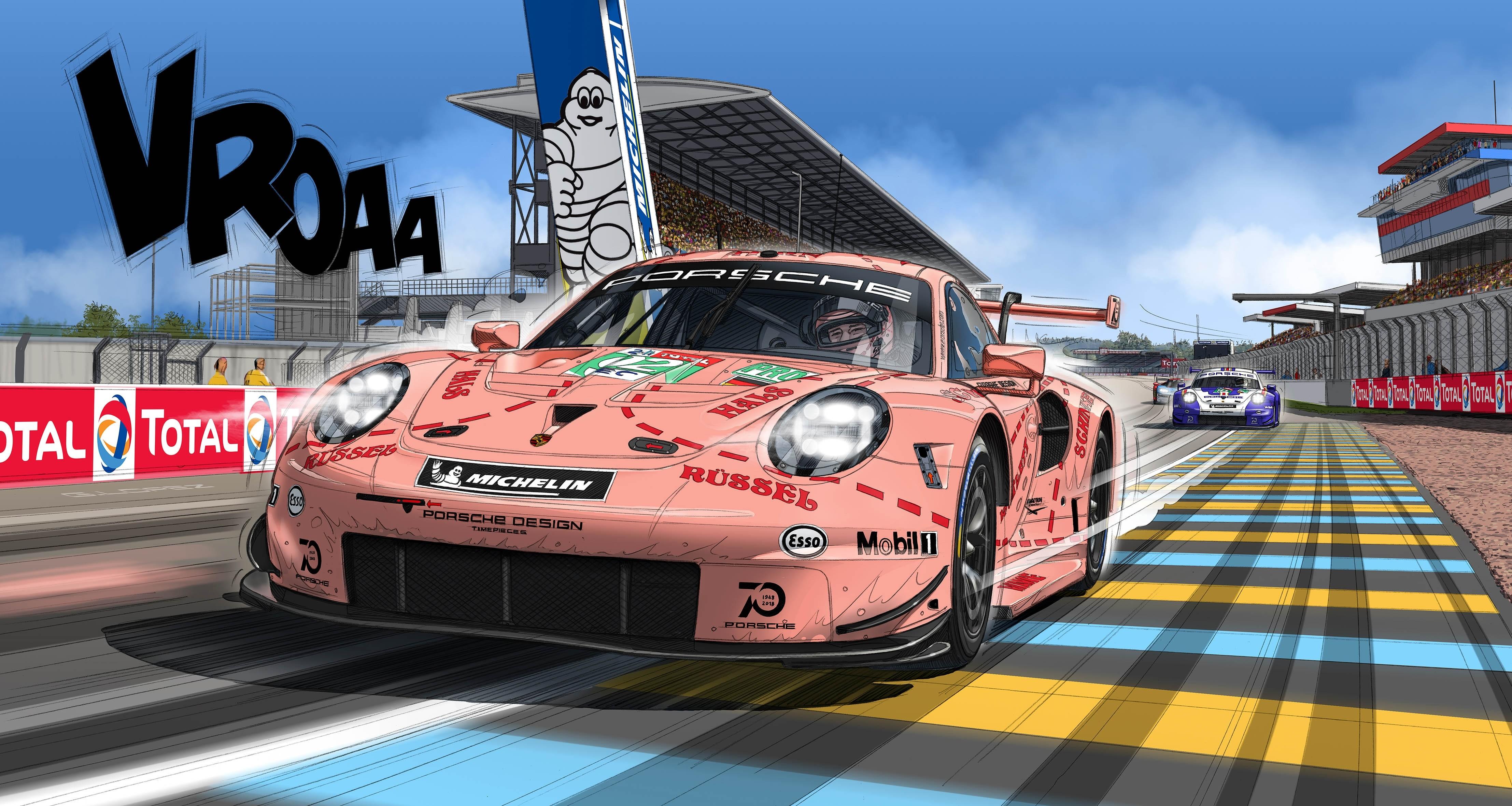 911 RSR  Rose Porsche édition limitée  -