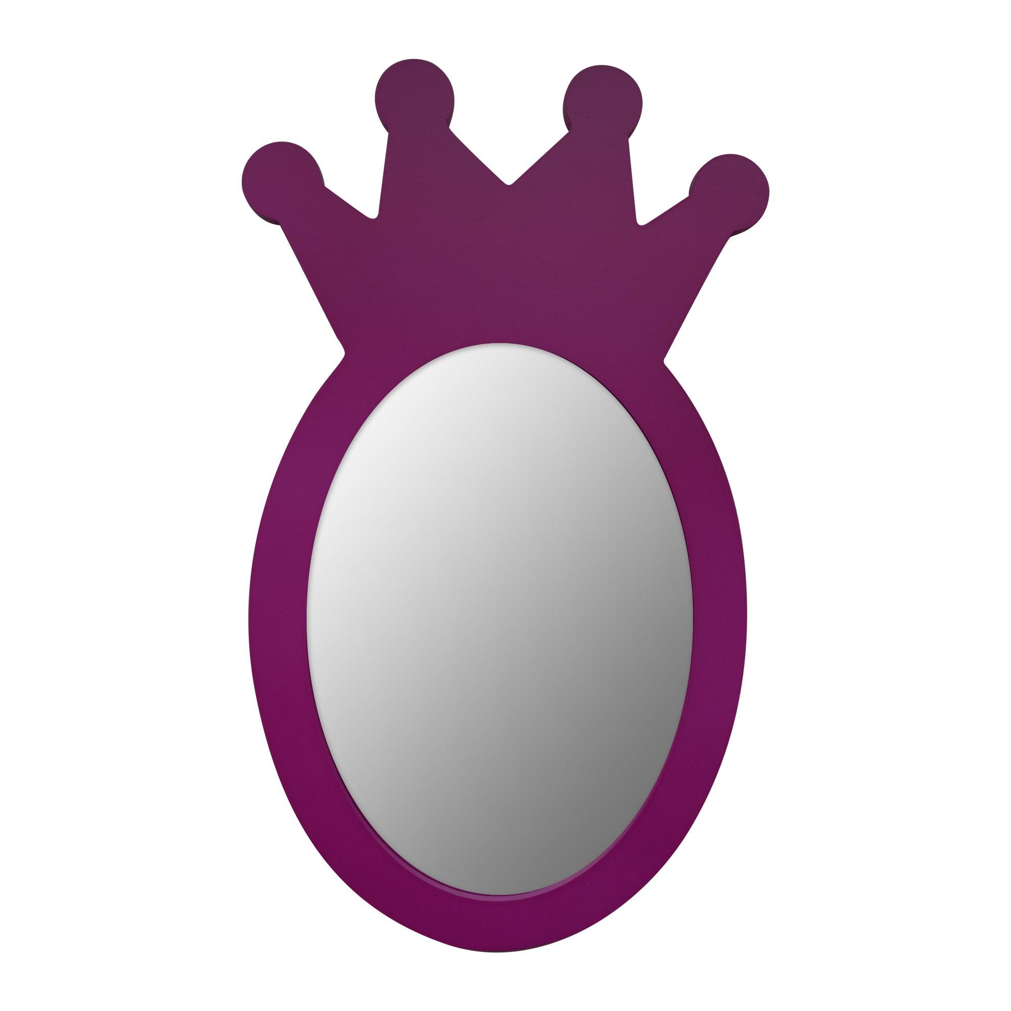 miroir mdf couronne violet 30x18