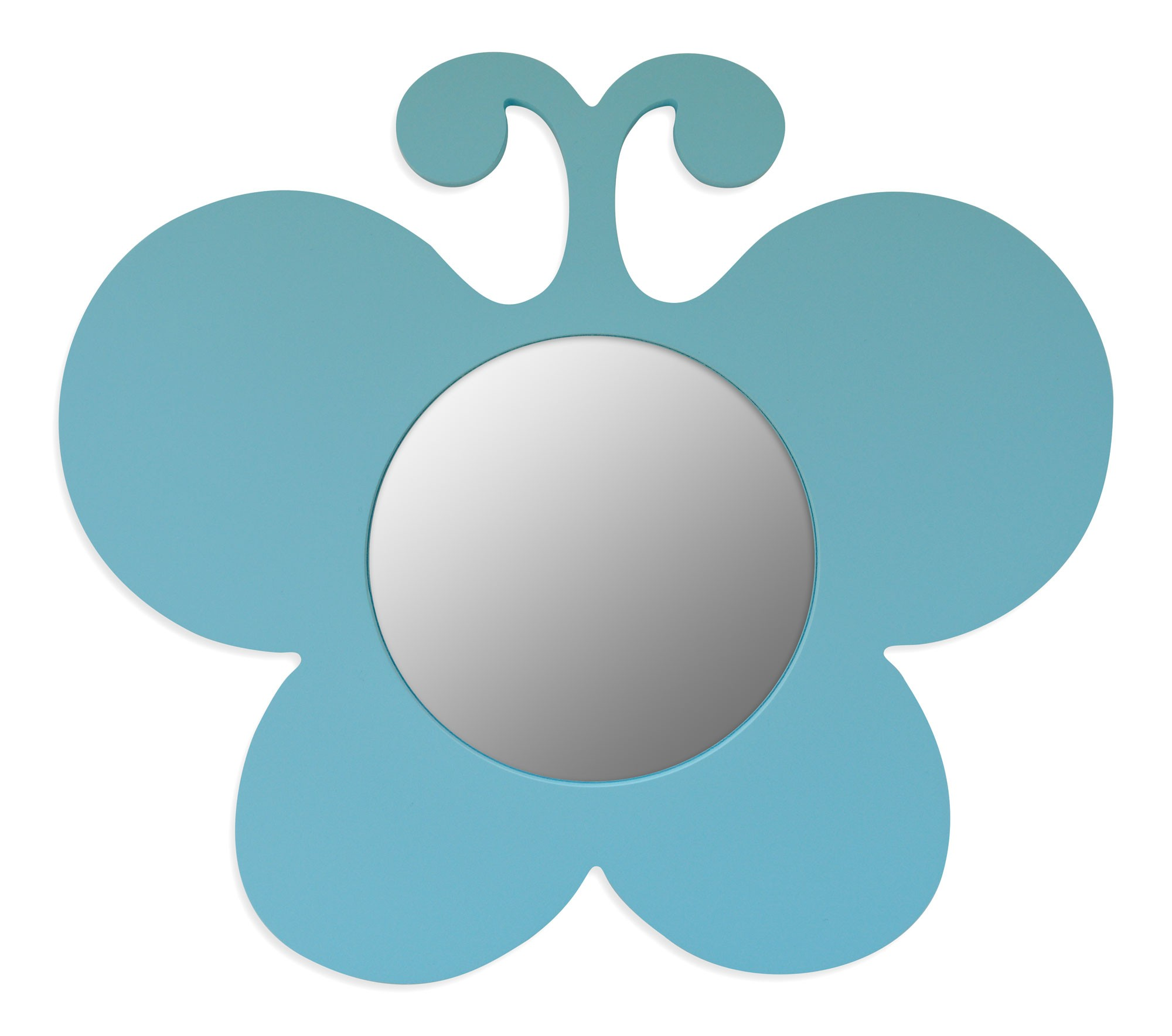 miroir mdf papillon bleu 30x26cm