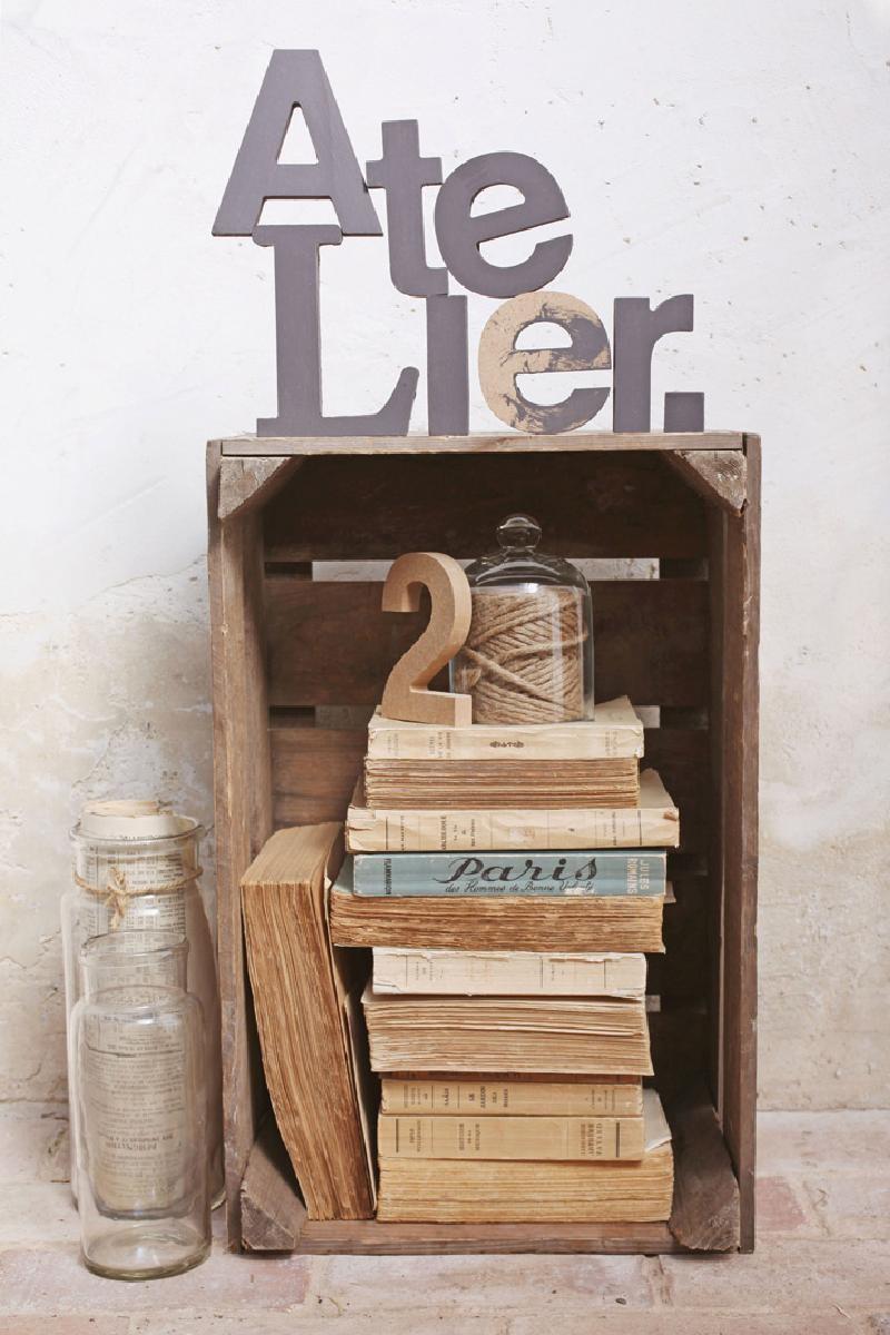 toile imp atelier livres 40x60