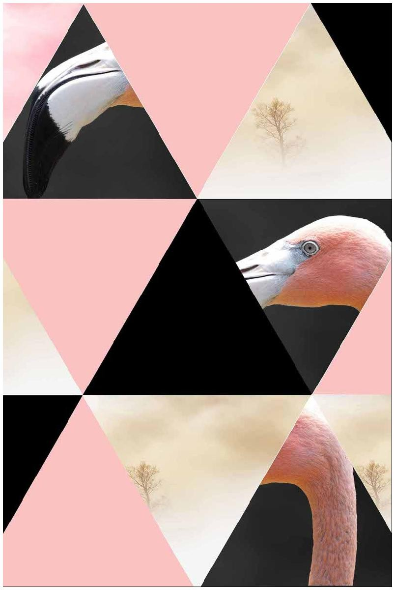 TRIANGLE FLAMANT ROSE
