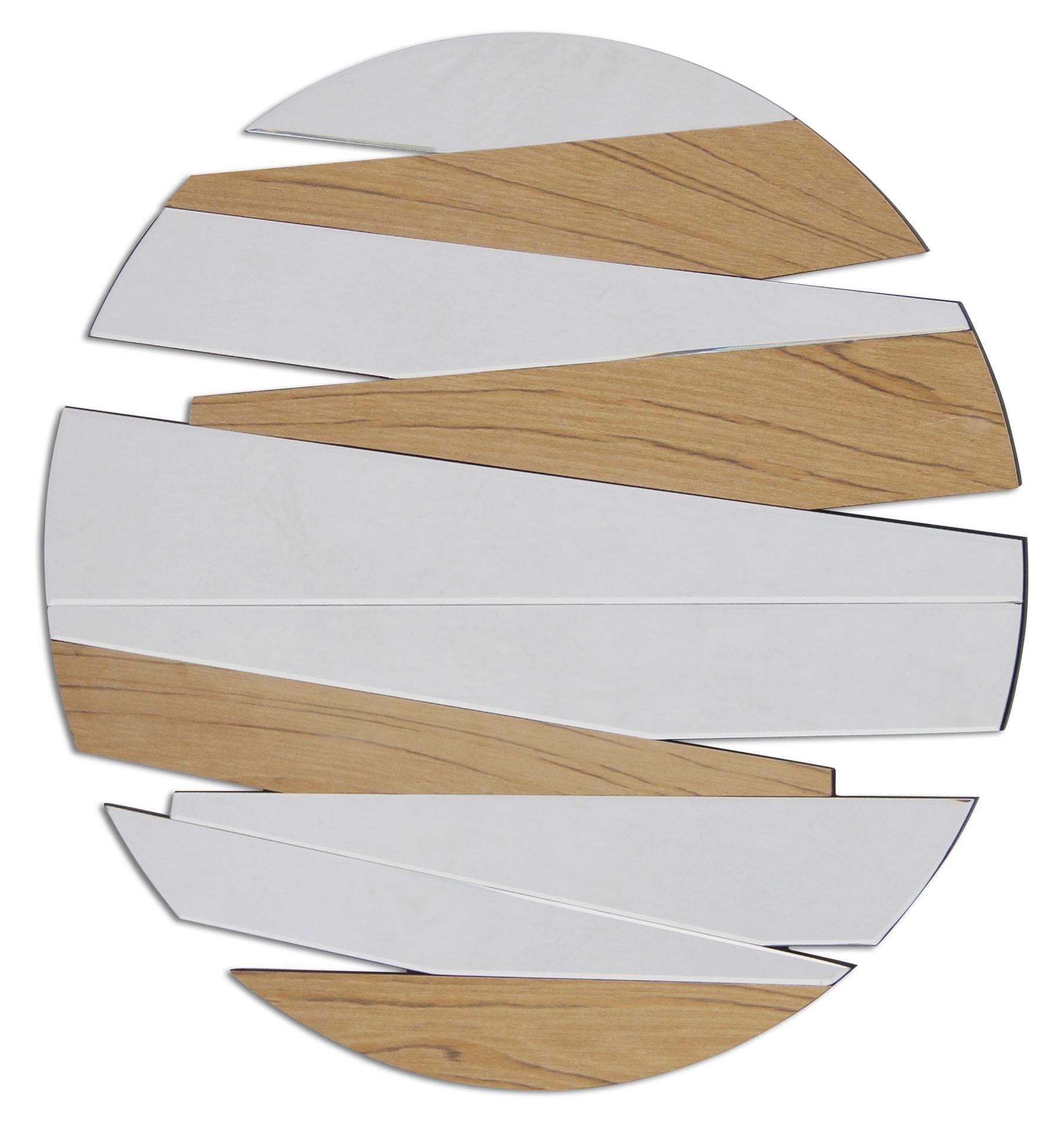 miroir design zig zag rond 80 cm