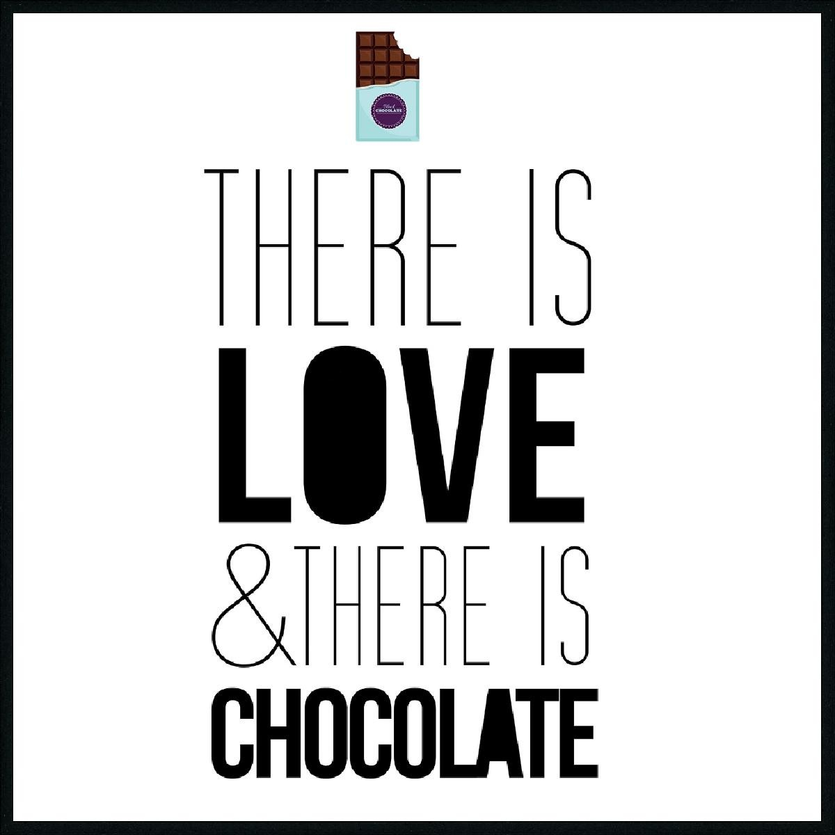 WORDING LOVE AND CHOCOLAT