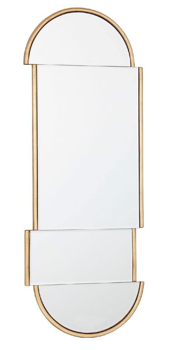 miroir deco dore ovale 30x80 cm