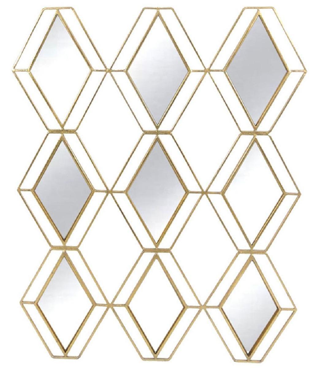 miroir metal losange 68x89x1,5 cm