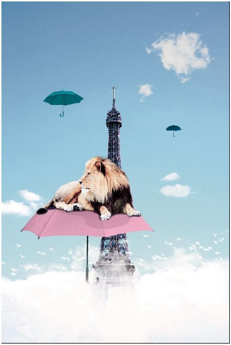 lion in paris 60x90