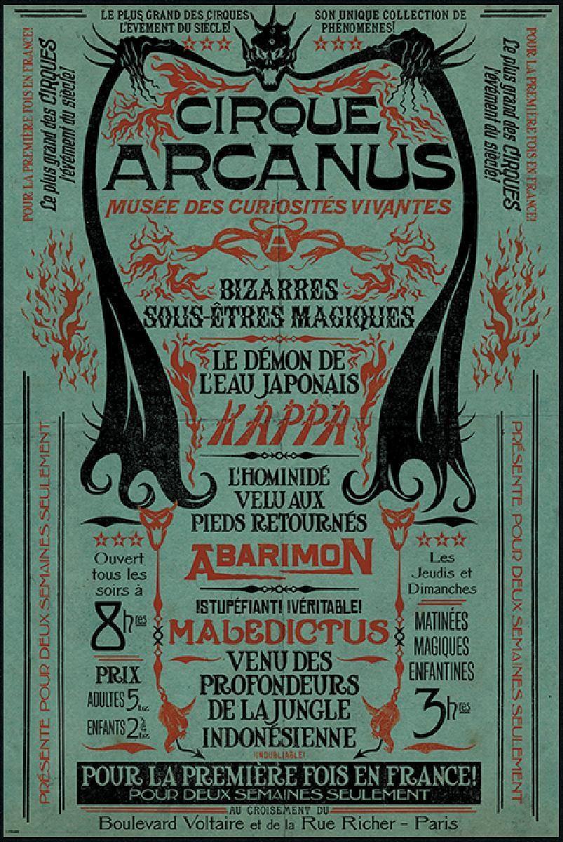 fantastic beasts cirque arcanus