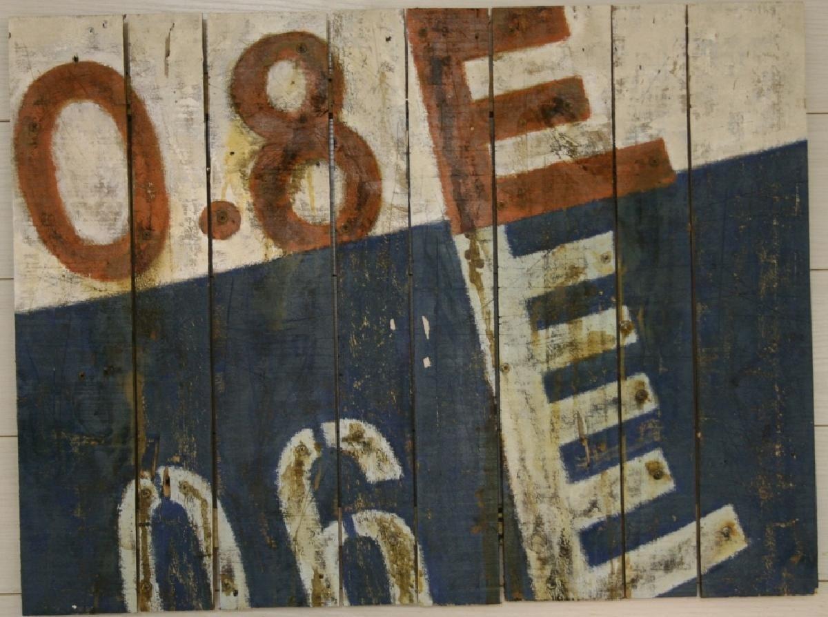 plaque bois navy blue 60x80