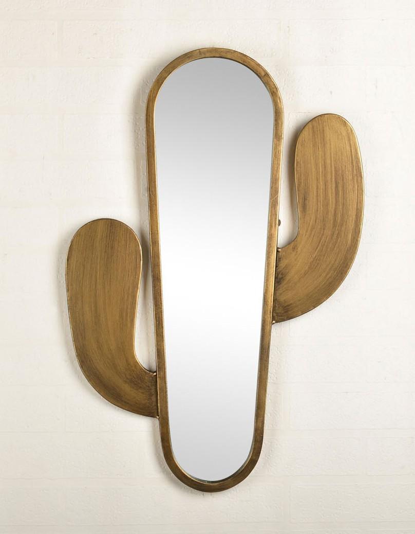 miroir acier cactus 41x61x2 cm