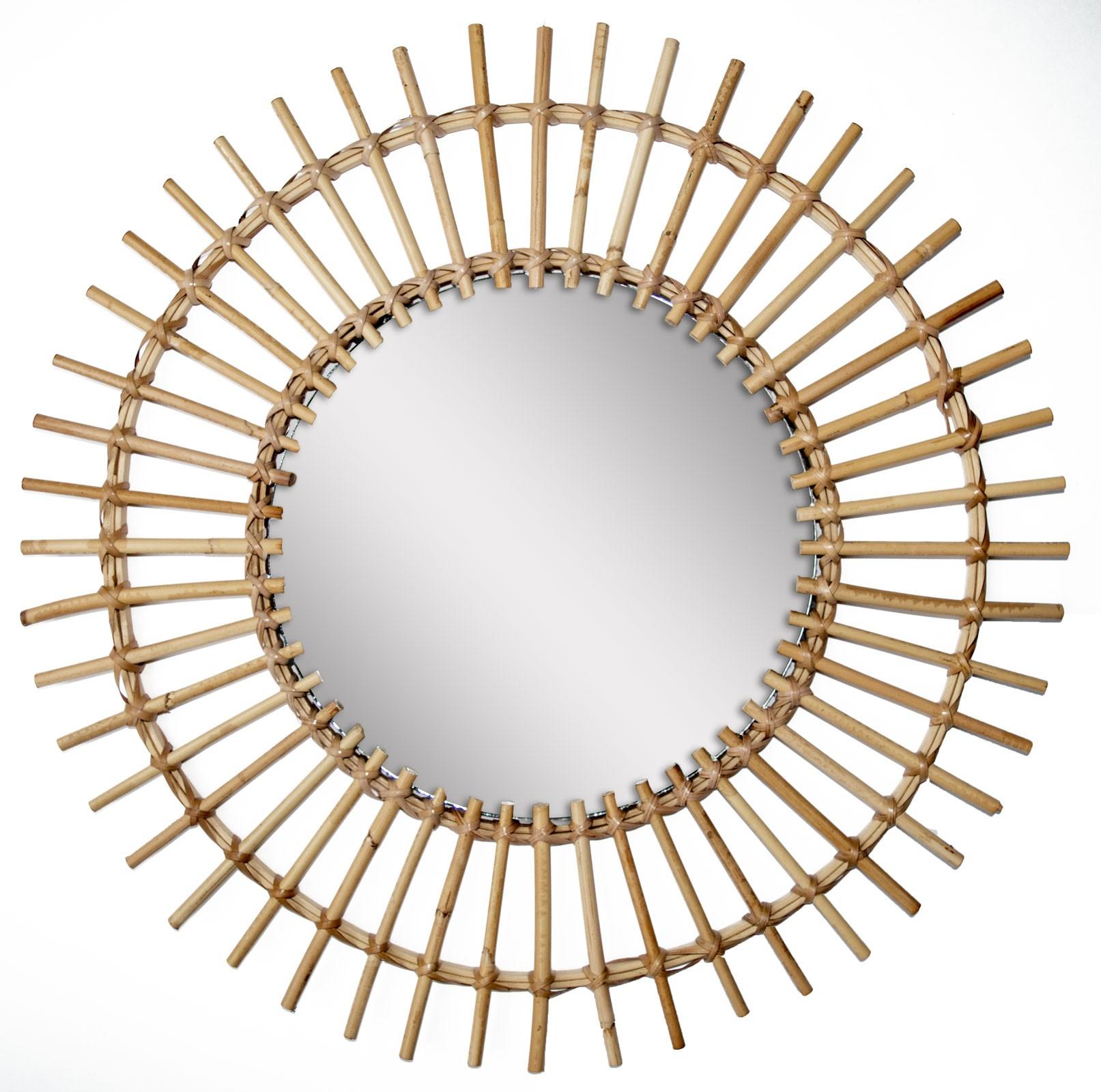miroir rd bamboo naturel diam.55cm