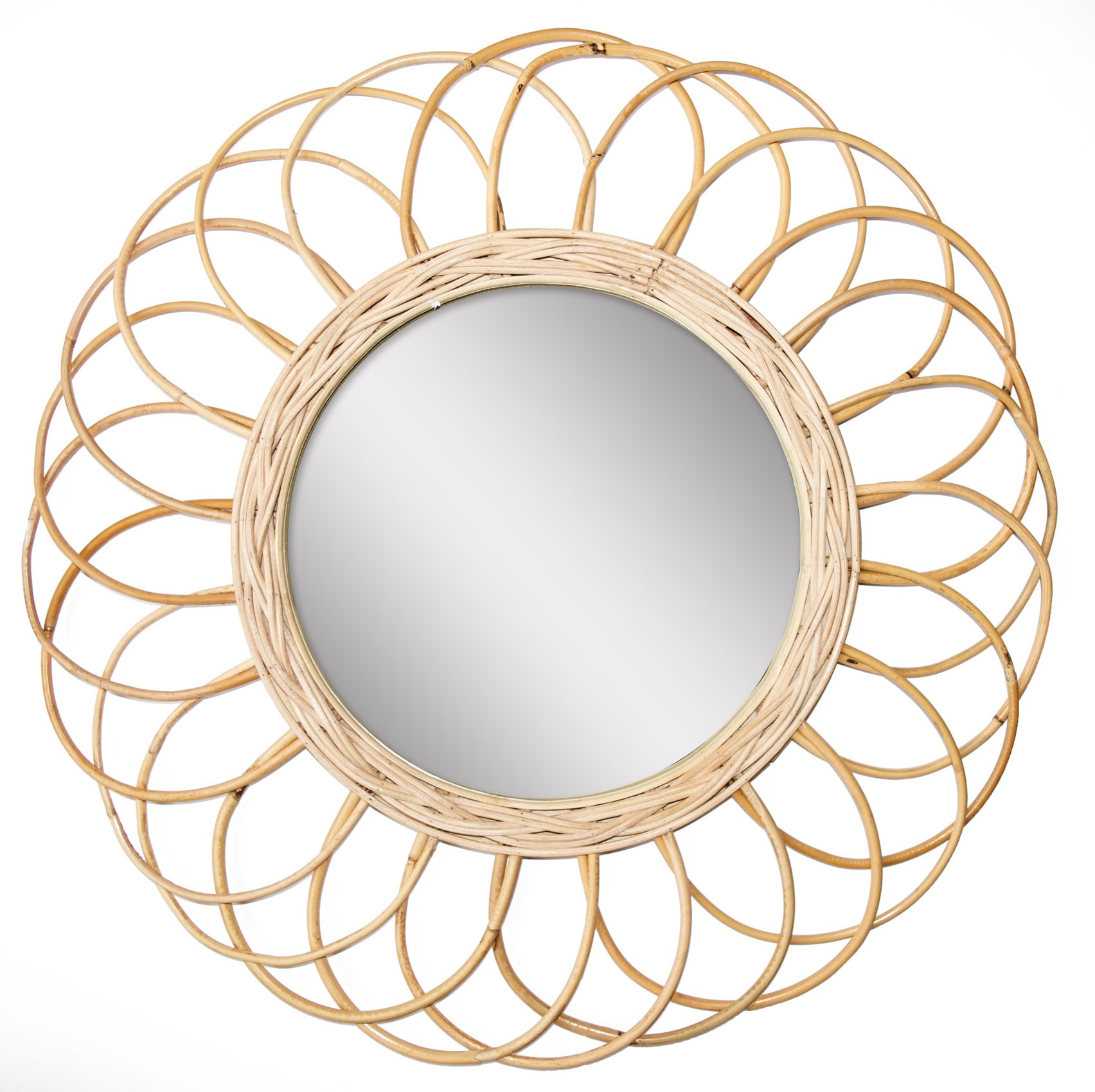miroir bamboo fleur diam.55 cm