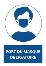 Stickers port du masque obligatoire 21X29,7