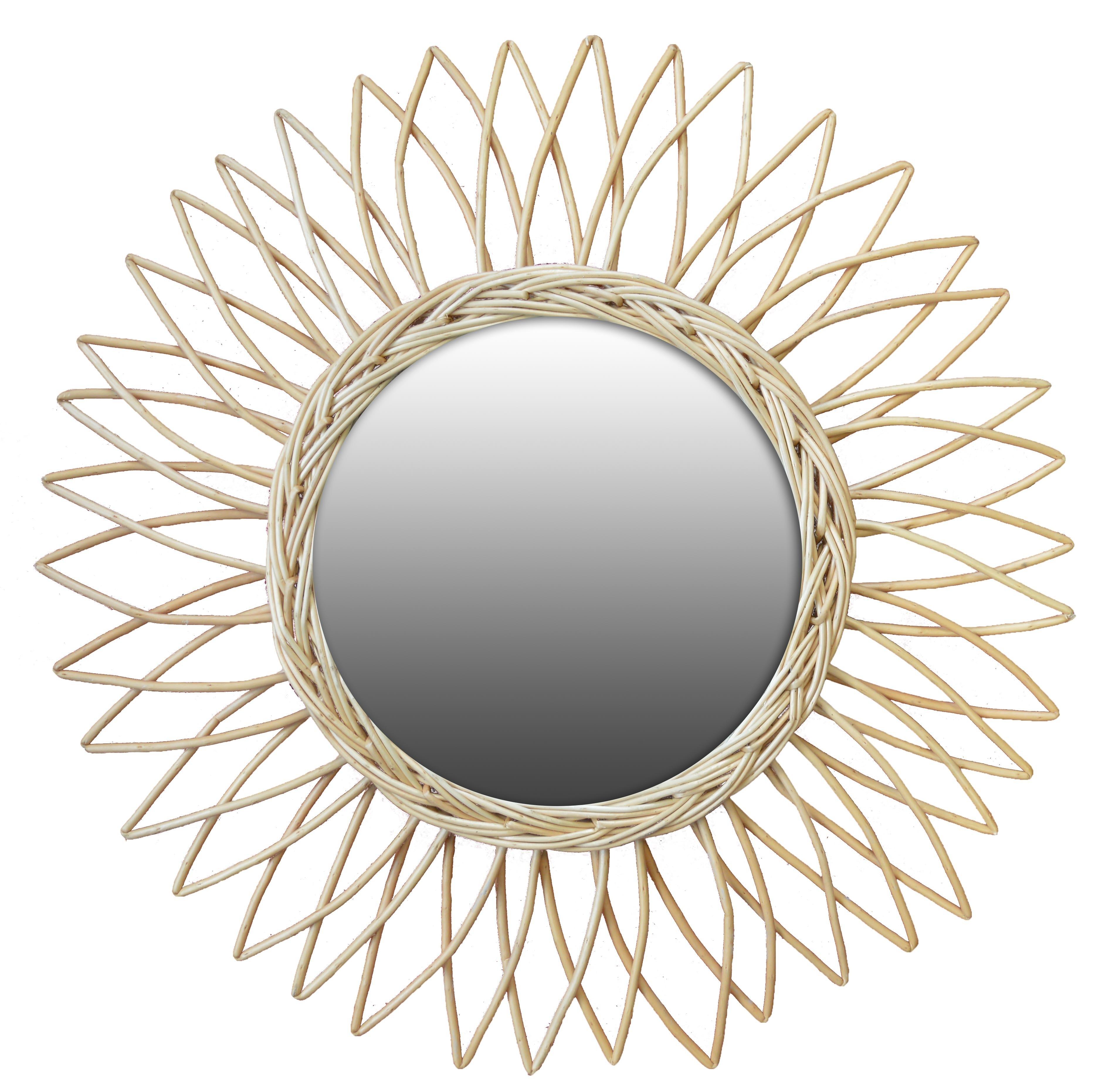 miroir rotin marguerite diam.50 cm
