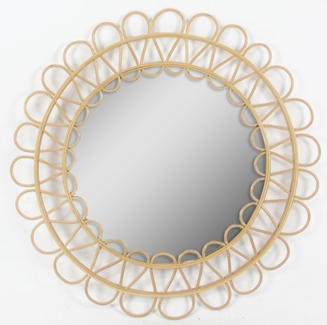 miroir rotin theo diam.60 cm