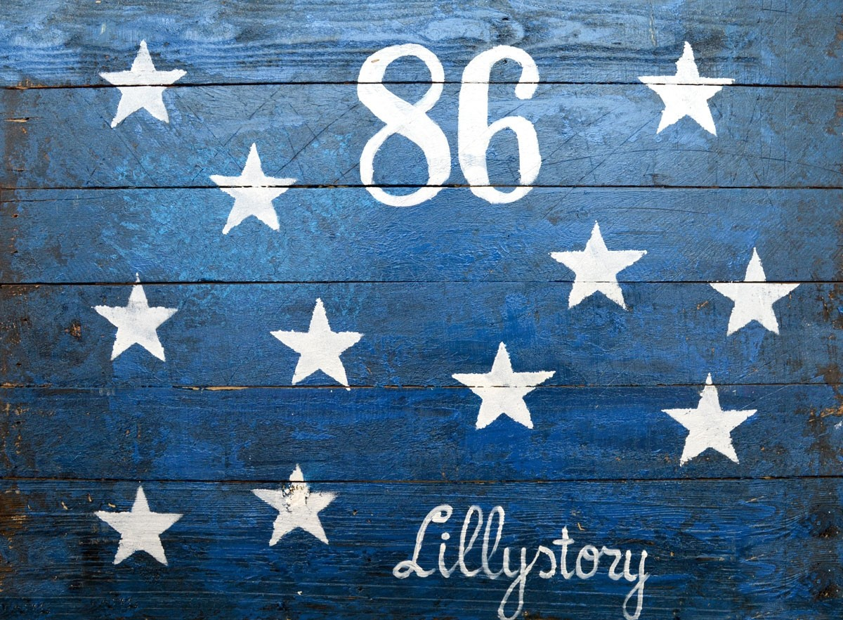 PLAQUE BOIS LILLYSTORY FLAG 60X80