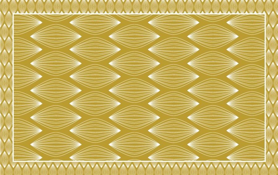 tapis retro miel