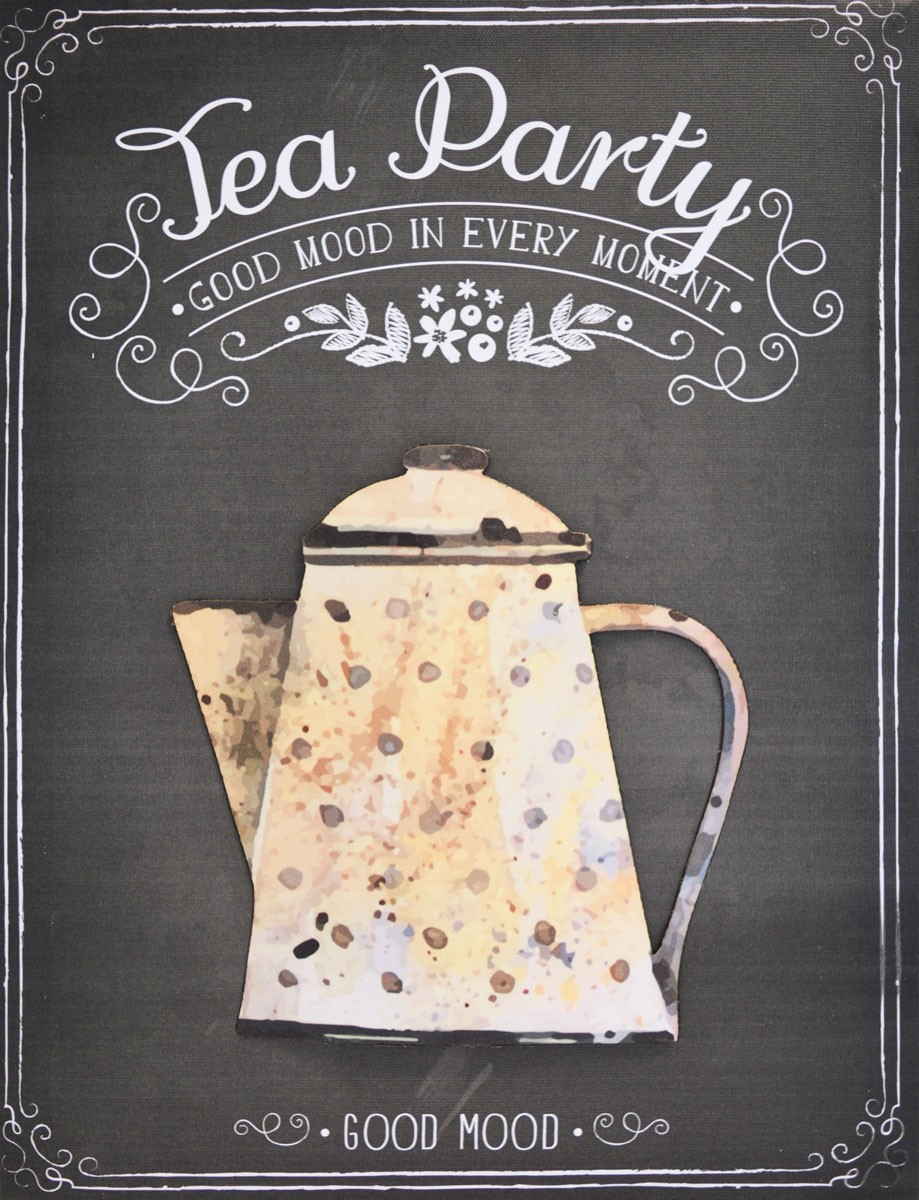 TOILE IMP. METAL TEA WHITE 30X40 cm