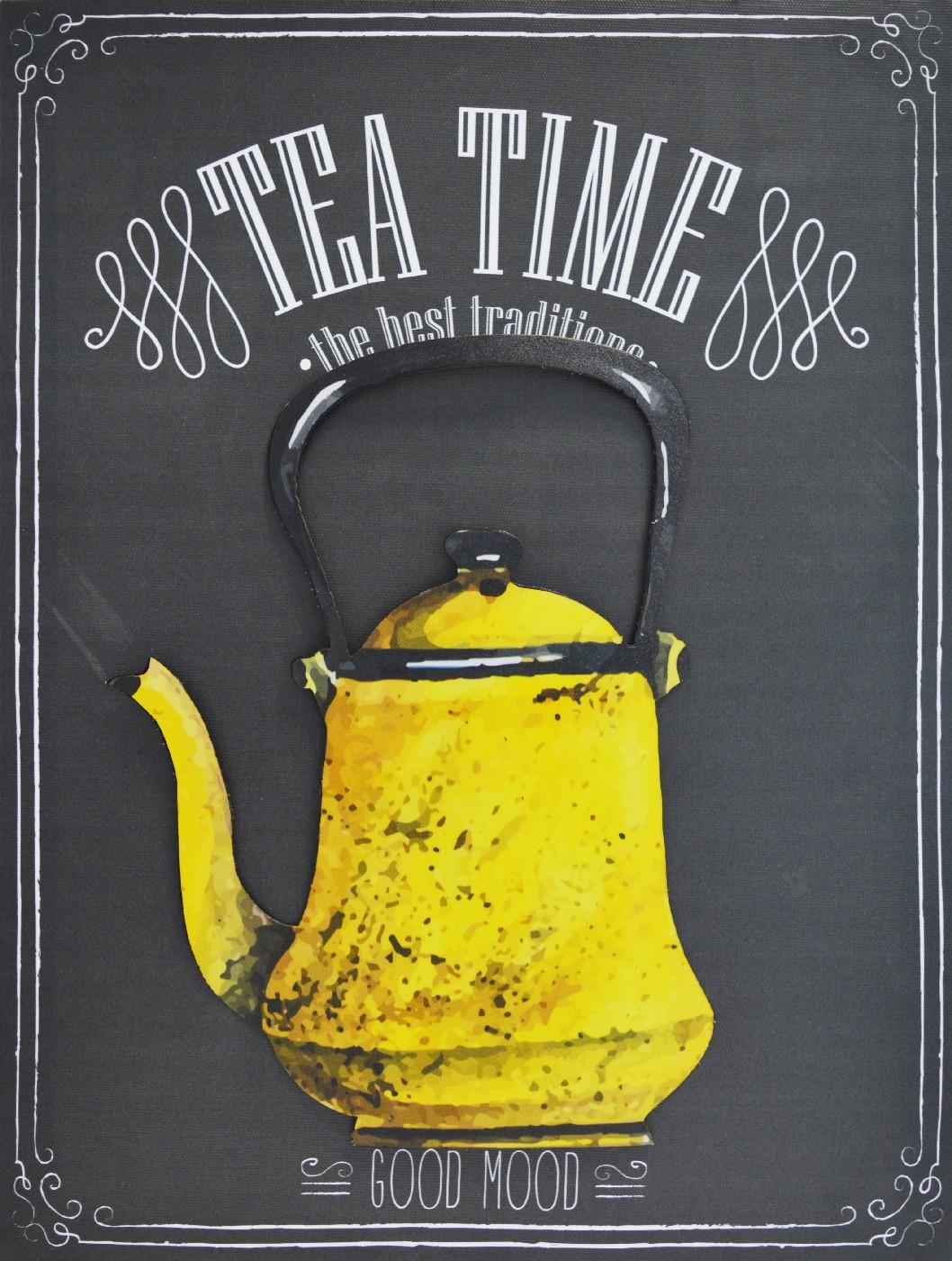 TOILE IMP. METAL TEA YELLOW30X40 cm