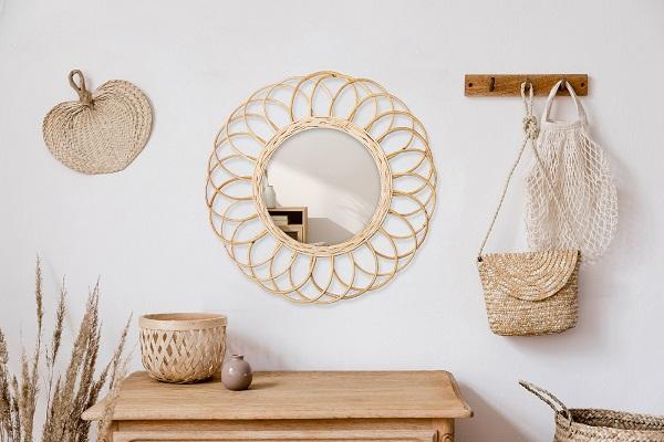 Miroir en rotin : déco nature et design dans votre maison | CM CREATION