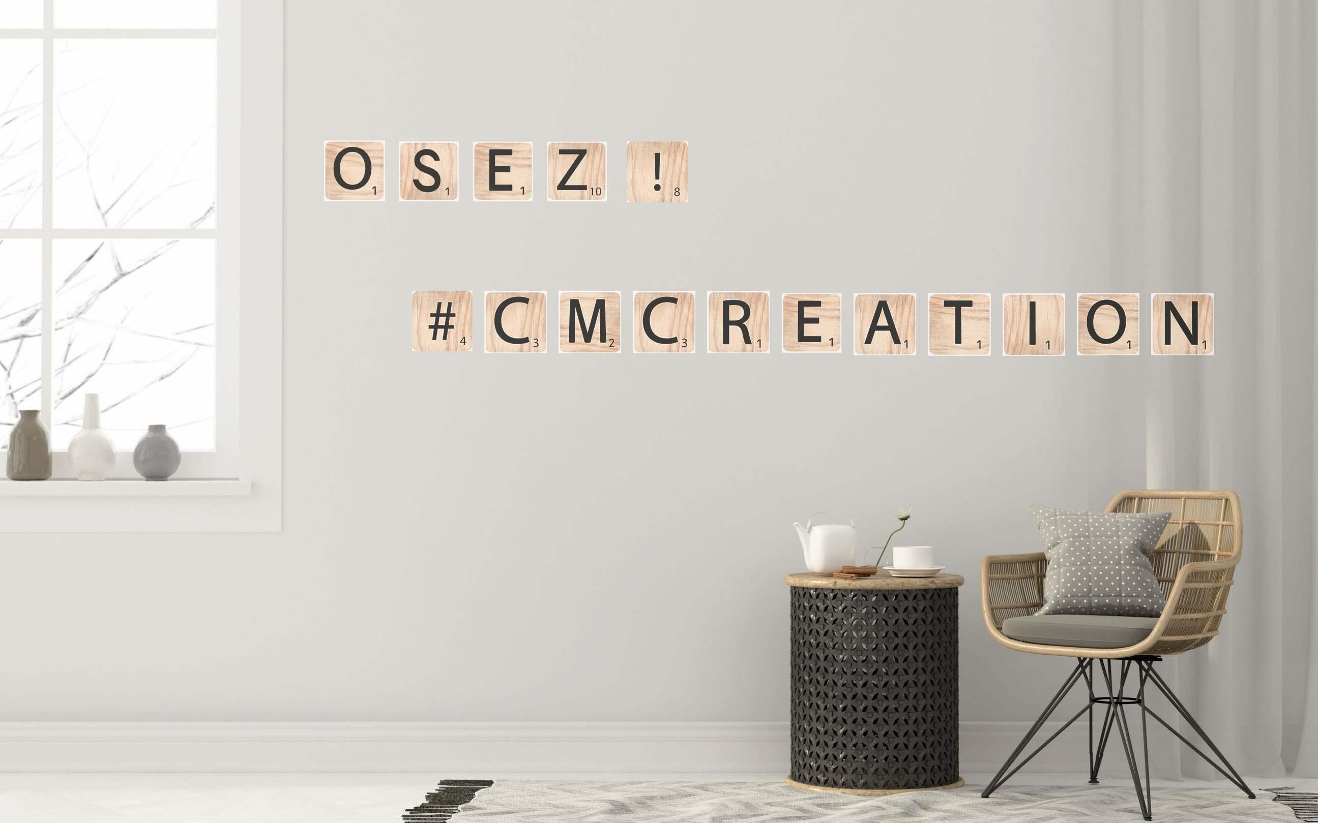Les Lettres Bois déco CM CREATION
